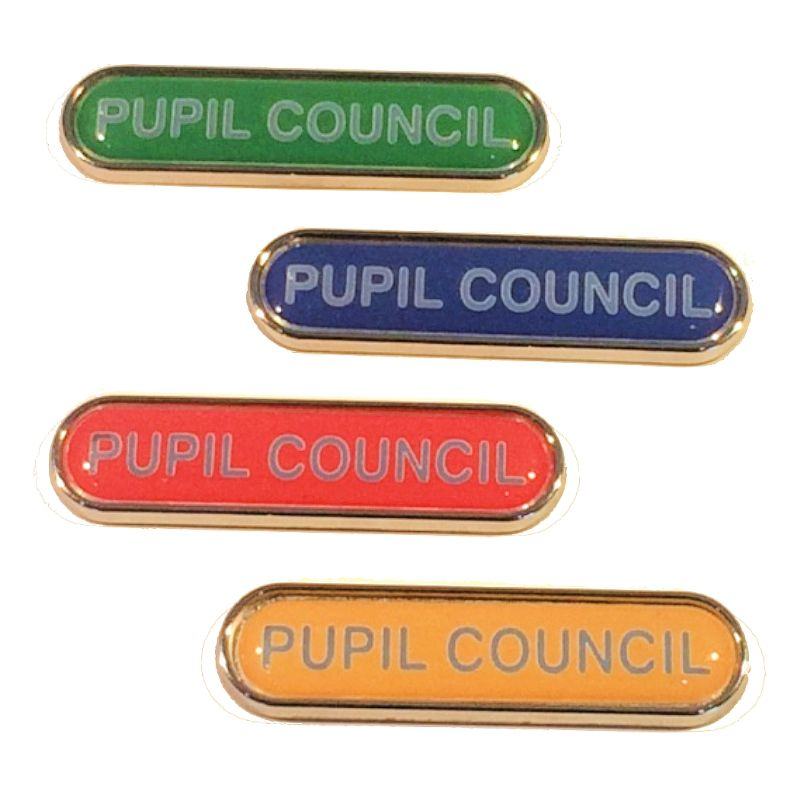PUPIL COUNCIL bar badge